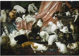 Sotheby's New York 19th Century European Paintings 3 November 2015   Lot 40 Carl Kahler My Wife's Lovers oil on canvas 70 by 101 3/4 in. 177.8 by 258.4 cm Est. $200/300,000 Sold for:  $ 826,000.